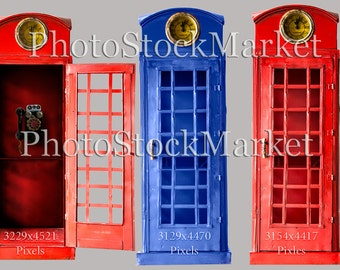 Red Phone booth, PNG, English phone-booth, British Call box, Iconic Red Call box, Photoshop overlay, Photography overlay, Blue Phone Booth