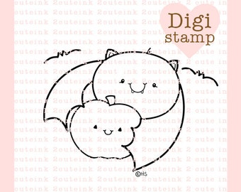Batty Digital Stamp for Card Making, Paper Crafts, Scrapbooking, Hand Embroidery, Invitations, Stickers, Cookie Decorating  Ask a Question