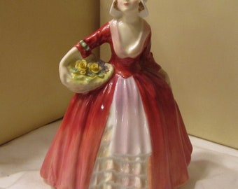 "Royal Doulton figurine Janet HN1537 gloss finish 6-1/2"" tall."