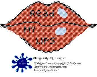 Read My Lips Wall Hanging PLastic Canvas Pattern