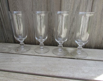 Imperial Candlewick, Set/4 Parfait Glasses, Line 3400, One Bead