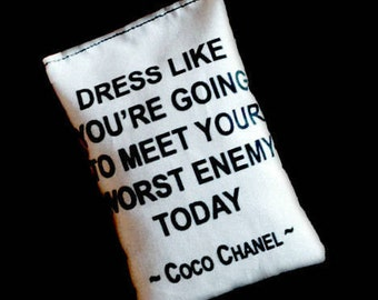 Coco Chanel Dress Quote Lavender Sachet, Party Favor, Best Friend Gift, Sister Gift