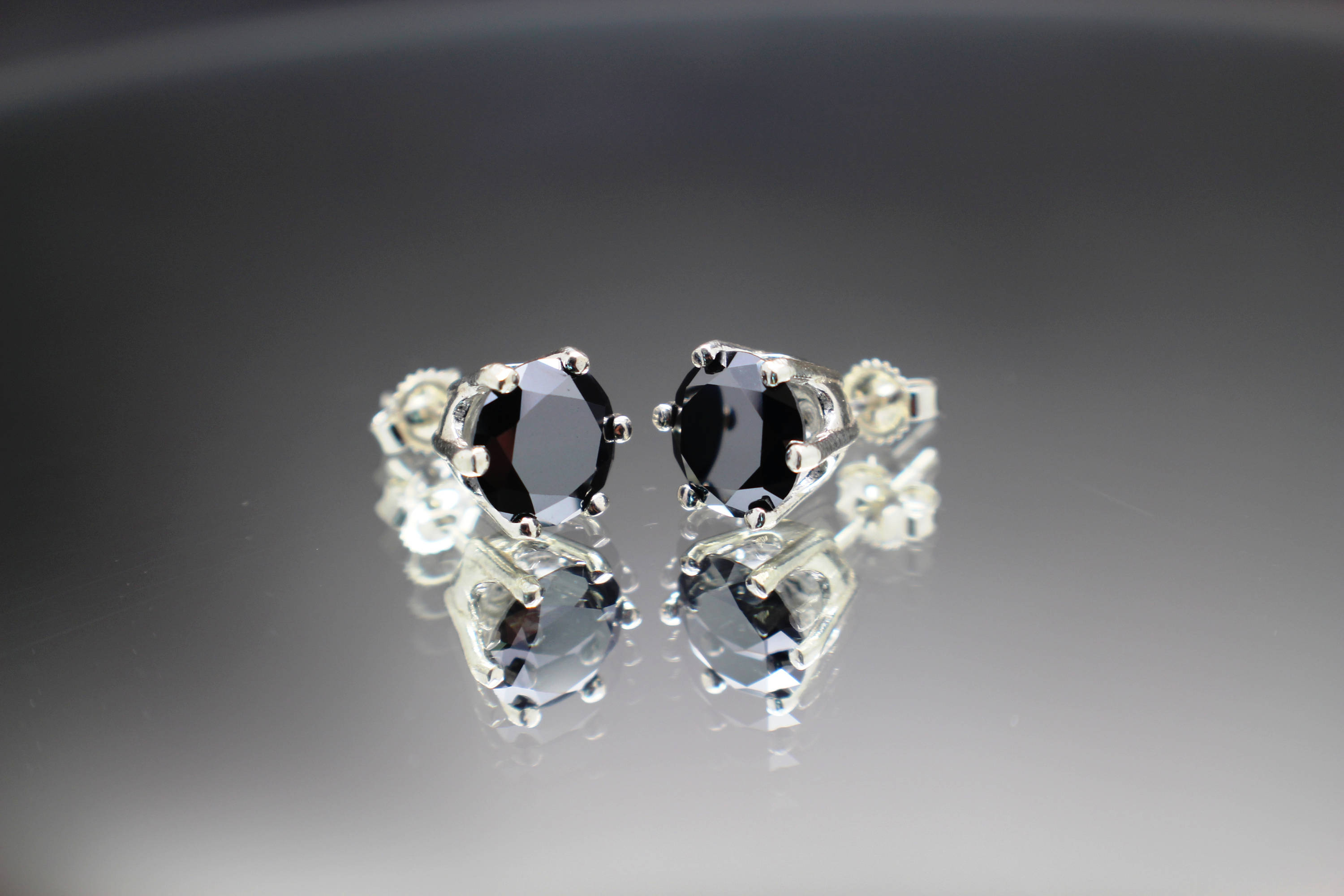 black moissanite earrings product gold ltd