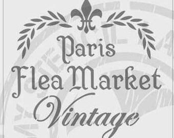 Paris Flea Market Vintage Stencil #150