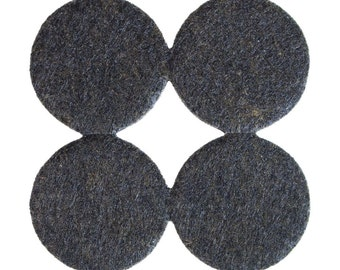 """Heavy Duty Floor and Furniture Round Felt Pads - 1.5"""" Diameter, Dark Brown, Multiple Pack Sizes Available"""