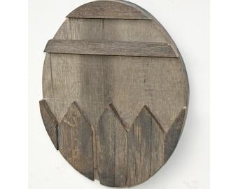 Wood Easter Egg - reclaimed palette wood