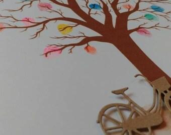 Personalised Fingerprint Guestbook Tree