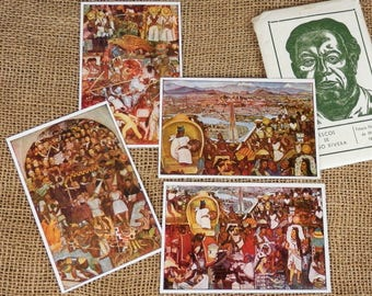 Diego Rivera Mexican Art Cards Fresco Set Of 12 Unused Post
