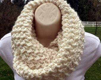Crossed Lines Infinity Cowl-Crochet Pattern