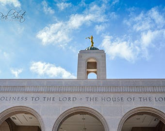 An Angel Over the Entry (Newport Beach, CA LDS Temple)