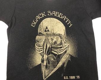 Black ∫Sabbath∫ US Tour Green Logo Kids Shirt