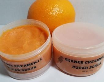 Orange Creamsicle Sugar Scrub-Natural Organic Handmade Sugar Scrub-Orange Sugar Scrub-Orange Body Scrub-Creamsicle Sugar Scrub