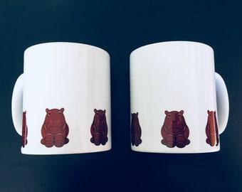 Hippopotamus Hippo Safari mug by Desjigns