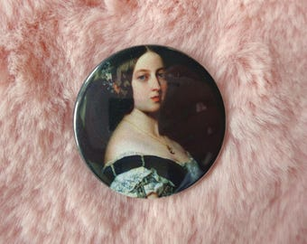 Queen Victoria Victorian Historical Feminist Feminism Pin Badge