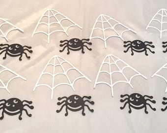 Sizzix Die Cuts * Spiders and Spider Webs * Cardstock * Sizzix 6555590 * Eight Sets * Cute Little Spiders!