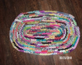 Hand Crocheted Rag Rug #3