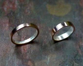 Bronze Wedding Ring, Bronze Ring, Mens Wedding Ring, Mens Silver Ring, Mens Bronze Ring, Thin Bronze Ring, Wedding Ring, 8th Anniversary