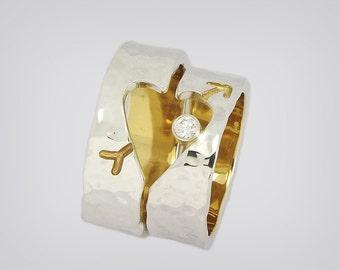 """Cupido"" partner Rings Silver/Gold"