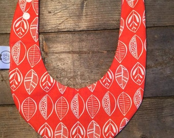 baby bib waterproof coral leaves
