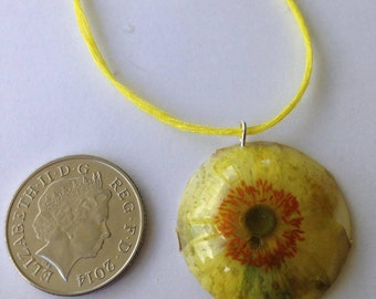 Yellow Japanese Anemone Necklace