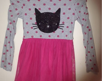 Black Kitty Pink and Gray Dress/Costume