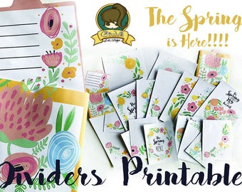 Giuva-Spring Floreal Dividers PRINTABLE-