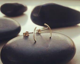 ARC earrings., arc stud earrings, arc jewellery