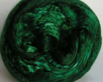 SILK Top Roving Sliver Mulberry cultivated EMERALD Isle Supreme Quality Mulberry Silk A1 March PhatFiber Feature Fine for Handspinning 2 oz