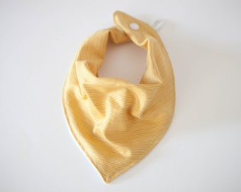 Bandana Bib -  Yellow - Gender Neutral