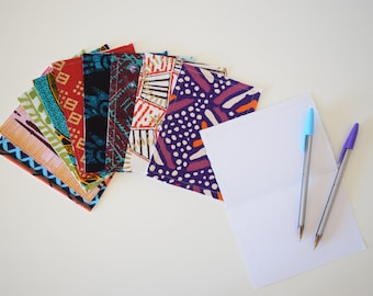 African Fabric Greeting Cards