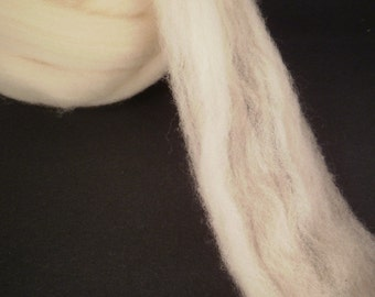 Polypay Wool Combed Top -- Soft Lambswool -- Undyed -- 4 oz.