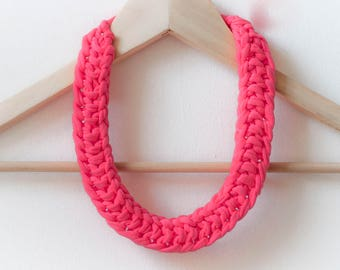 jersey knitted necklace - twisted knot