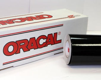 "Oracal 651 Black Adhesive Vinyl 12 x 12"" Sheets"