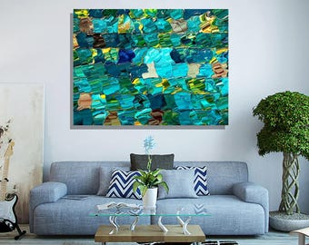 "Acrylic Print - ""Digital Mosaic"", by Christopher Brown, Contemporary Abstract Art, Photography, Geometric Abstract, Modern art, Loft Decor"