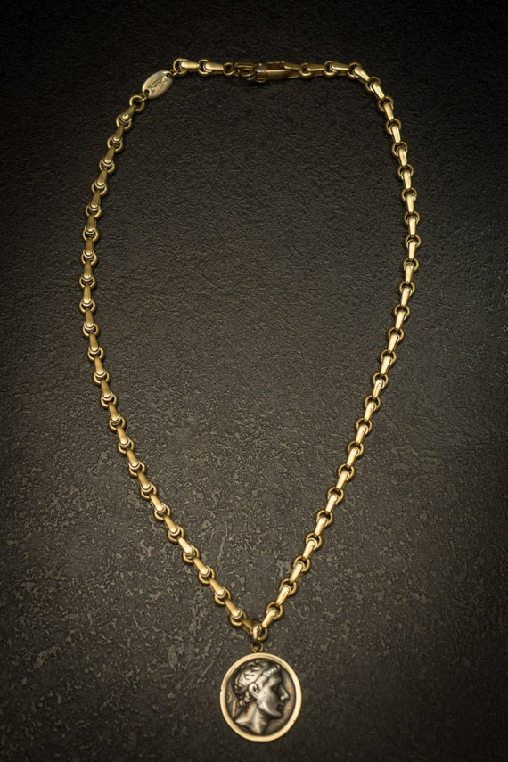 18K Solid Gold Italian Made Chain Italian 18K Gold Necklace