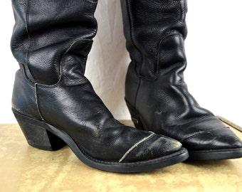 Vintage 90s Harley Davidson Ladies Lace Up Boots - Women's size 7 1/2