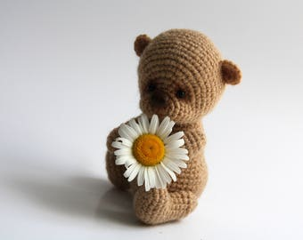 Bear Bear toy Teddy bear Hand knitted bear Knitted bear for children Baby bear Cute bear