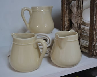 Stoneware Medium Size Creamer 400ML - French Farmhouse, French Kitchen, French Stoneware