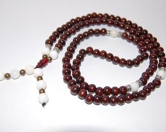 Wood Necklace,Buddhist Necklace,Tibet Buddha,Wood 8mm Beads,Spirituality,108 mala Prayer,Man,Woman,Bracelet,Protection,Meditation,Ethnic