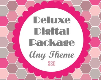 25% Off ---- Do It Yourself Deluxe Party Package- DIY Files ANY THEME