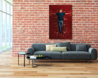 Dexter wall art, Dexter Morgan wall art, Dexter canvas, Dexter Morgan canvas, Dexter print, Dexter Morgan print