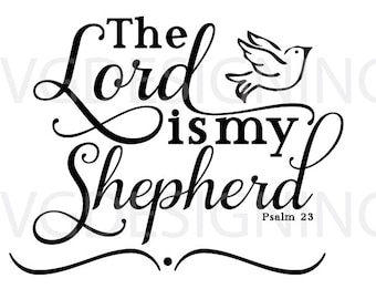 The Lord is my shepherd SVG PNG DXF file