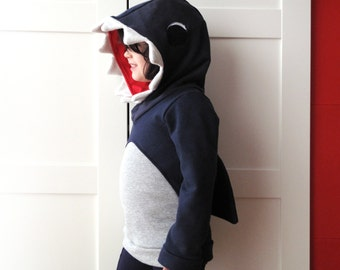 Shark costume, kids shark hoodie, shark sweater, shark sweatshirt, jaws sweatshirt, jaws sweater, Halloween costume, boys costume, birthday
