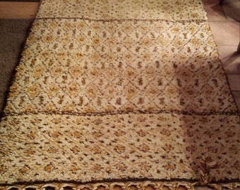S.A.F.T. RABAT Morocco 4' x 6'  Hand Knotted in Morocco Wool Rug.Very nice colors. Many more years of use. Very-Nice-Cond. Free Shipping USA
