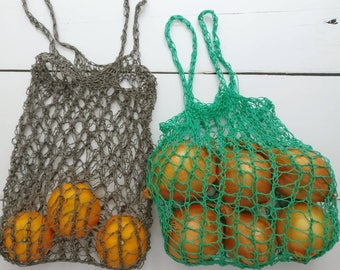 Reusable grocery bag set, fruit and vegetable bag, eco shopping market bag, produce bag, vegetawool bags, SET OF 5