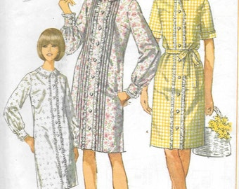 Vintage 1960s Simplicity Sewing Pattern 7007- Misses' Dress size 16 bust 36 uncut