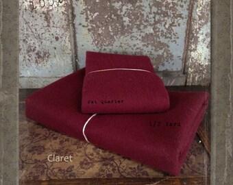 Wool: Half Yard 100% Wool - CLARET - Marcus Fabrics