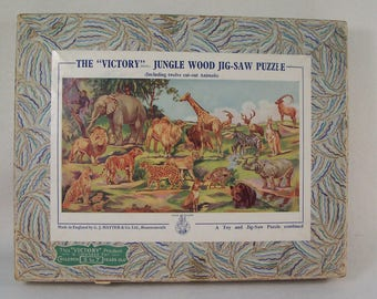 Victory Jungle Wood Jig-Saw Puzzle      W126