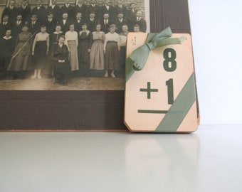 Vintage Math Flash Cards, Set of Fifty, School Days, Wedding Numbers, Craft Supply