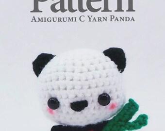 C Yarn Animal - Panda Crochet Pattern - PDF File